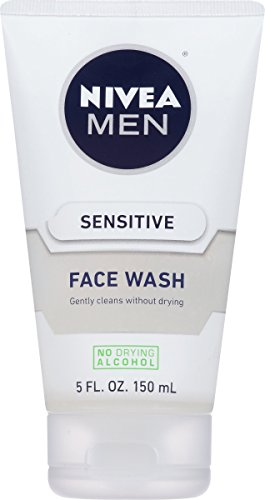 NIVEA Men Sensitive Face Wash - Cleanses Without Drying Sensitive Skin - 5 fl. oz. Bottle