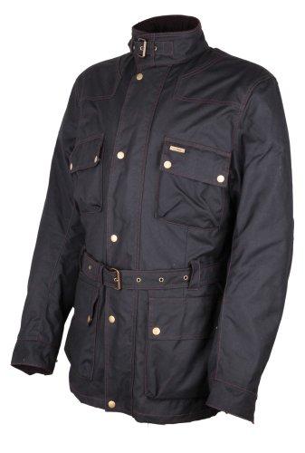 Modeka FOXDALE Wachsjacke Textiljacke lang - schwarz Größe 4XL