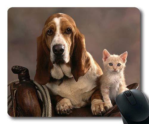 Yanteng Tappetino per Mouse da Gioco, Cane da Cagnolino con Pericolo di Stampa per Cani, Cucitura di precisione, Tappetino per Mouse Resistente