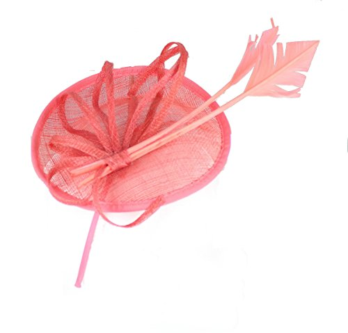 Coral Fascinator on Headband/ Clip-in for Weddings, Races and Occasions-5894