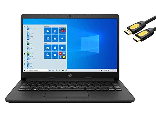 HP 14' HD Slim and Light Laptop para negocios y estudiantes, AMD Athlon Silver 3050U, 8GB RAM, 256GB SSD, HDMI, Wi-Fi, Bluetooth, Ethernet, Mytrix HDMI Cable de alta velocidad, Win 10