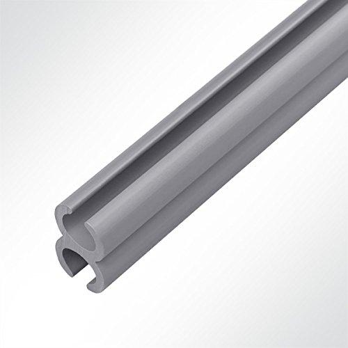 LYSEL Kunststoff Doppelkederschiene PVC Kederverbundprofil Vorzeltkederschiene 2 Meter