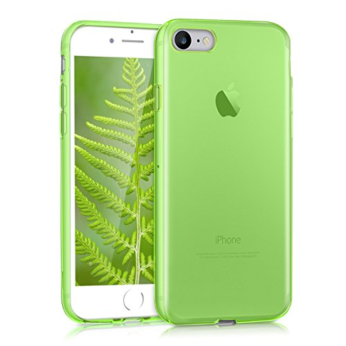 kwmobile Funda Compatible con Apple iPhone 7/8 / SE (2020) - Carcasa de TPU para móvil - Cover Trasero en Verde