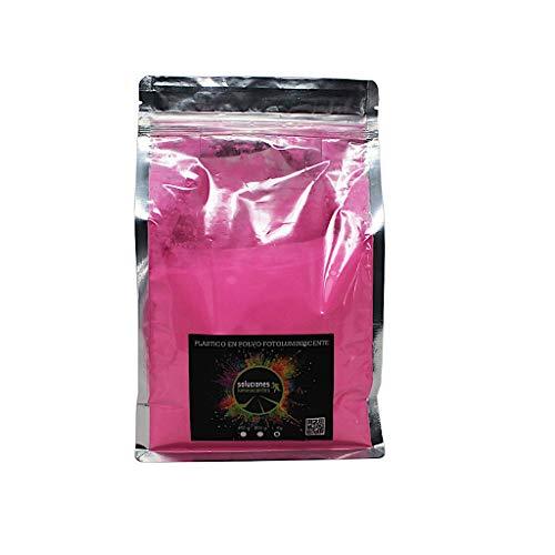 Plástico en Polvo Luminiscente - Rosa flúor, 1kg