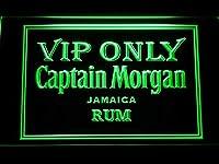 Captain Morgan Jamaica Rum Vip Only LED看板 ネオンサイン ライト 電飾 広告用標識 W60cm x H40cm グリーン