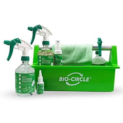 bio-chem Premium Fahrradreinigungs-Set 7-teilig: Fahrradreiniger, Antriebsreiniger, Antriebsentfetter, Antriebsöl, Fahrradpflege, Mikrofasertuch und Werkzeugbox - für alle Fahrräder und E-Bike