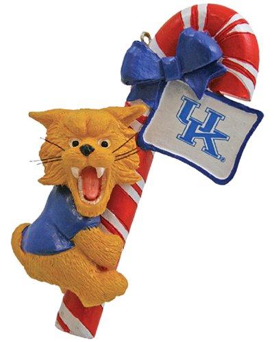 NCAA Kentucky Wildcats Mascot Candy Cane Ornament