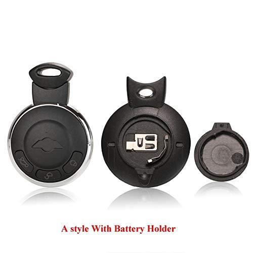 Estuche para Llave Inteligente con Control Remoto de 3 Botones, Etiqueta de Repuesto para Equipaje, Entrada sin Llave, Cubierta para Llave remota para BMW Mini Cooper R56 A v Soporte de batería