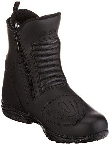 Protectwear TB-ALN-45 halbhoher Motorradstiefel, Tourenstiefel, Allroundstiefel aus schwarzem Leder mit 2 Reißverschlüssen, Größe 45, Schwarz - 3
