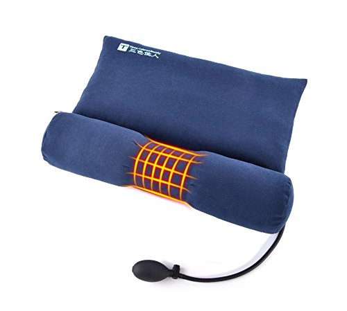 Almohada de semilla de cassia/Almohada cervical terapéutica-inflable cuello de almohada para el...
