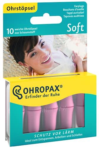 OHROPAX - Soft - Ohrstöpsel - 1x 10 Stück - Wiederverwendbare In-Ohr-Stöpsel aus Schaumstoff gegen schädlichen Lärm - zum Entspannen, Schlafen und Musik hören