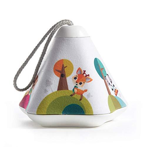 Tiny Love Musik Projektor Tiny Dreamer, beruhigendes 3-in-1 Nachtlicht mit MP3 Funktion, aus der Into the Forest Kollektion, angenehm weicher Musical-Projector, mehrfarbig