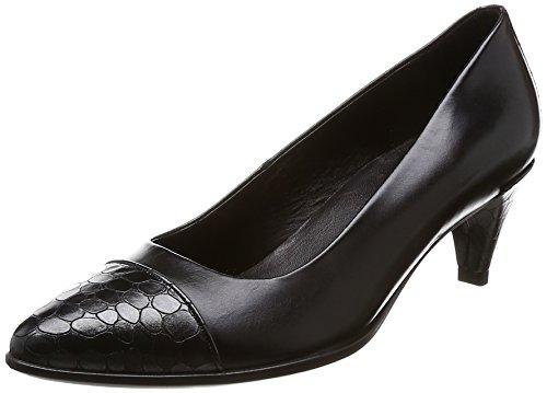 [エコー] パンプス SHAPE 45 Pointy Sleek レディース BLACK/BLACK-BUFFED SILVER 22.5cm