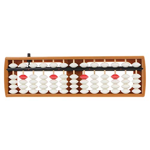 Rtengtunn Tragbares Japanisches 13-stelliges Abakus-Rechenwerkzeug für Soroban Caculating School Math - Weiß