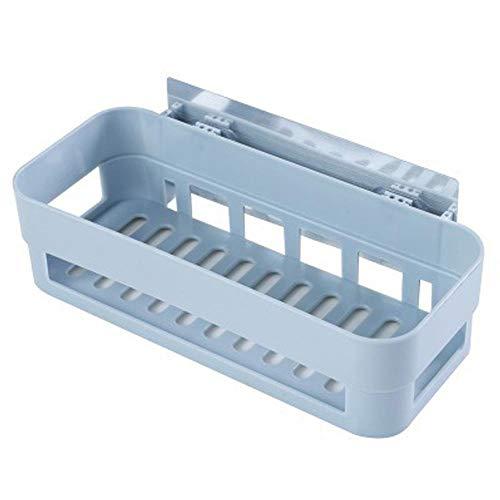 NZHK Estante de Ducha Almacenamiento Rack Organizador Succión Ducha Estante Cesta para estantería de Ducha Organizador de Cocina Rack Accesorios de baño (Color : Blue)
