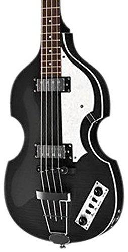 Hofner IGNITIONBK Ignition Electric Violin Bass Guitar, Rosewood Fingerboard, Black Finish