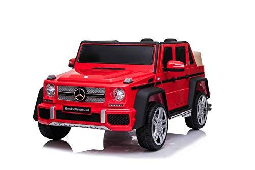 Elektroauto für Kinder Mercedes G650 MAYBACH, Rot, Originallizenz, 12 V batteriebetrieben, Türen öffnen, 2,4 GHz Fernbedienung, weiche EVA-Räder, Federung, Sanftanlauf, MP3-Player mit USB / SD-Eingang