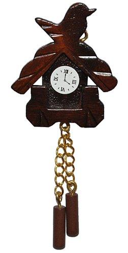 alles-meine.de GmbH Miniatur Kuckucksuhr - für Puppenstube Maßstab 1:12 - Nostalgie Uhr Wanduhr für Wohzimmer Schwarzwald Puppenhaus