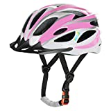 AGH Adult Bike Helmet, Mountain Bike Bicycle Helmets for Women Men, Adult Helmet with Detachable Visor (Pink)