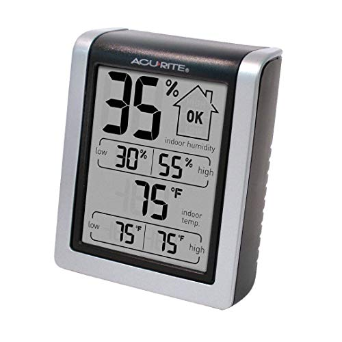 AcuRite 00613 Humidity Monitor with Indoor Thermometer, Digital Hygrometer and Humidity Gauge Indicator 2-Pack