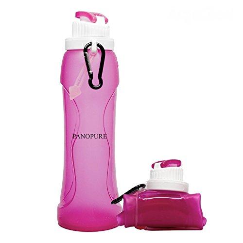 Irtradco - Botella de silicona plegable para agua 500ml, varios colores, rojo,...