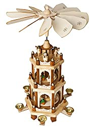 Brubaker Nativity Play 3 Tier Carousel with 6 Candle Holders