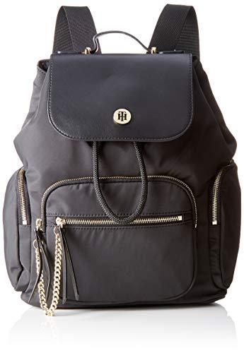 Tommy Hilfiger Core Nylon Backpack, Zaino Donna, Nero (Black), 1x1x1 Centimeters (W x H x L)