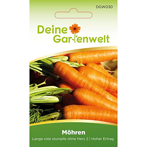 Möhren lange rote Stumpfe ohne Herz 2 | Samen für Karotten | Möhrensamen | Karottensamen