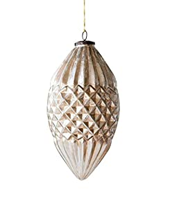 "Made from mercury glass Antique champagne finish 6. 25""L x 6. 25""W x 11. 75""H Package Length of the Product: 8.66"""