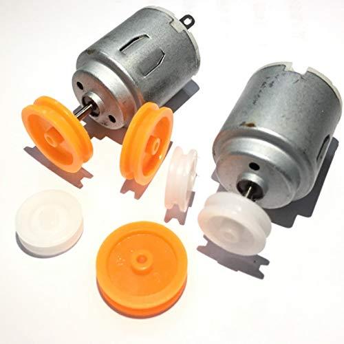 TLBBJ Motor 140 Motor con la polea 3V-6V pequeño Motor Motor DC DIY pequeña producción Motor/Carro Durable
