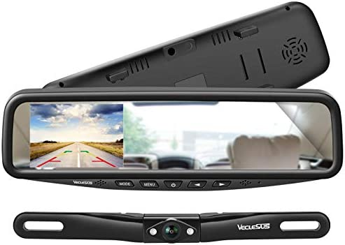 VECLESUS VT1 Backup Camera Kit System Car Licence Plate Backup Camera with 4 3 Mirror Monitor product image