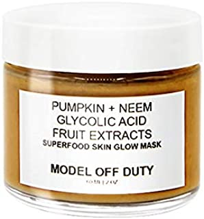 Model off Duty Beauty Superfood Skin Glow Mask | Exfoliating Brightening Face Mask | Antioxidant Replenishing Facial Mask with Pumpkin, Neem, AHA, Fruit Extracts, Vitamin C, E | 2.0 oz