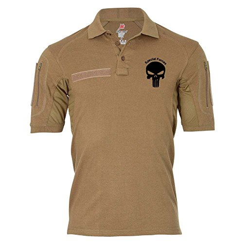 Copytec Tactical Polo Special Forces Einheit Infidel Kopf Wappen #25569, Größe:5XL, Farbe:Sand