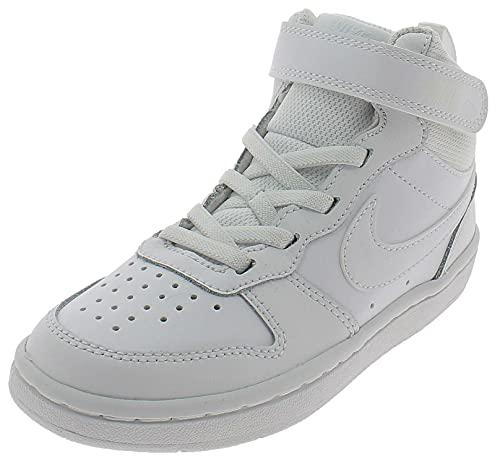 Nike Court Borough MID 2 (PSV) Sneaker, White/White-White, 28 EU