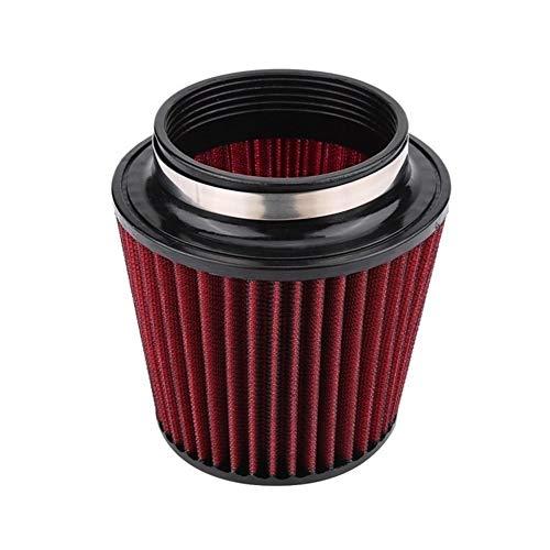 Rumors Luftfilter High Flow Auto-Änderung Inlet Lufteinlass Runde Kegel Luftfilter Rot PU Baumwollgaze Mesh-Filter Pilzkopf (Color : Red1)