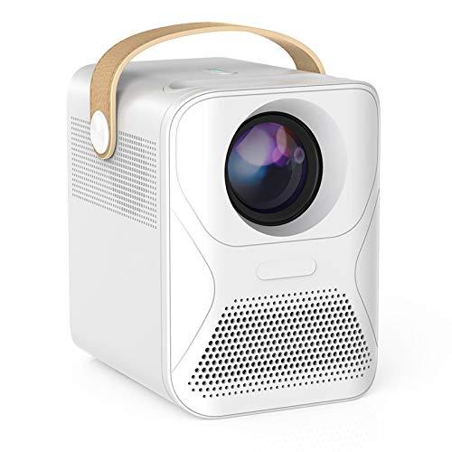0℃ Outdoor Proyector Pequeño Fundido Pared Hogar Teléfono Móvil HD Dormitorio Oficina, Admite 1080p y Diseño Portátil, Corrección de Distorsión Trapezoidal y Sistema óptico Fuera del Eje
