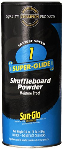 Big Save! Sun-Glo Speed 1 (Super Glide Wax) Shuffleboard Table Powder, 16 oz. Can