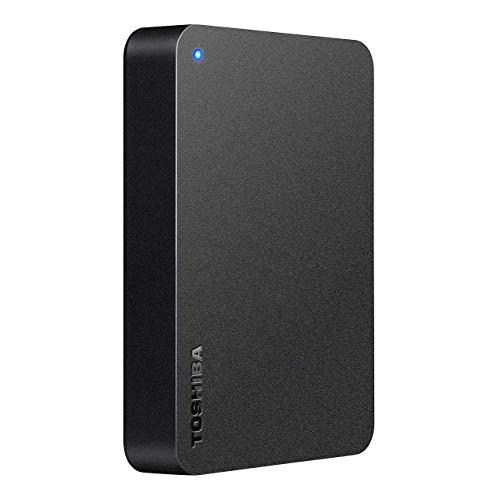東芝 Canvio 4TB USB3.2(Gen1)対応 ポータブルHDD PC/TV対応 バッファローサポート 国内メーカー 故障予測 外付け Mac ブラック HD-TPA4U3-B/N