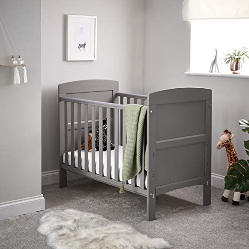 Obaby Grace Mini Cot Bed - Taupe Grey, 20OB1307