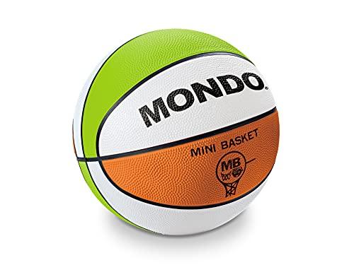 Mondo Sport - Balón de Mini Basket MB-4 - Talla 4 Balón de Baloncesto - 390 g - Color Rojo/Blanco/Verde - 13931