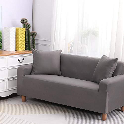 HXTSWGS Cubiertas Elegantes de los Muebles,Funda de sofá elástica, Tejido elástico, Funda Protectora para Muebles-Gris 3_145-185cm