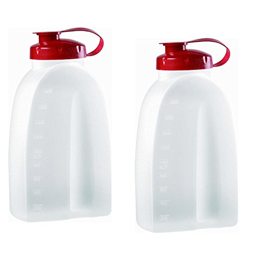 Rubbermaid Servin Saver White Bottle 2 Qt. (Pack of 2)
