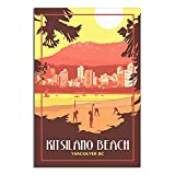 ZHBIN Vintage Vancouver Reise Poster Strand Volleyball