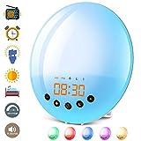 Lichtwecker für Kinder Erwachsene mit Sonnenaufgang Sonnenuntergang Simulation/Wake Up Licht 30...