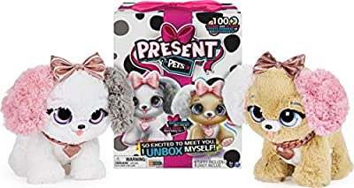 Present Pets Fancy Puppy Interactive Plush Pet Toy with Over 100 Sounds and Actions (Style May Vary, only one supplied) from Spin Master