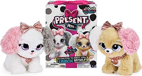 Present Pets 6051197 - Fancy Puppy Interactive Plush Pet Toy with Over 100 Sounds and Actions (Style May Vary, Only One Supplied)