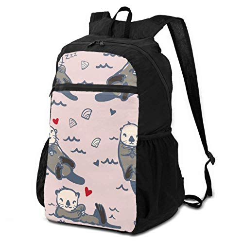 JOCHUAN Packable Daypack Backpack Cartoon Cute Funny Slowly Animal Otter Hiking Backpack Lightweight Daypack Packable Daypack for Travel Lightweight Waterproof for Men & Womentravel Camping Outdoor