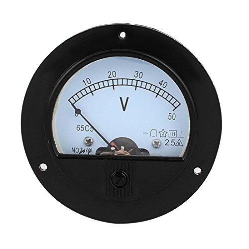 meter voltmeters uxcell DC 50V Analog Panel Measuring Gauge Class 2.5 Voltage Meter Voltmeter