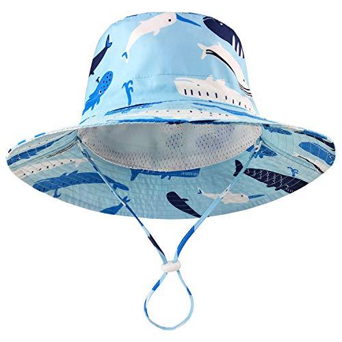 DRESHOW Baby Sonnenhut Sommerstrand UPF 50+ Sonnenschutz Baby Junge Hüte Kleinkind Sonnenhut Kappe für Baby Mädchen Kid Eimer Hut