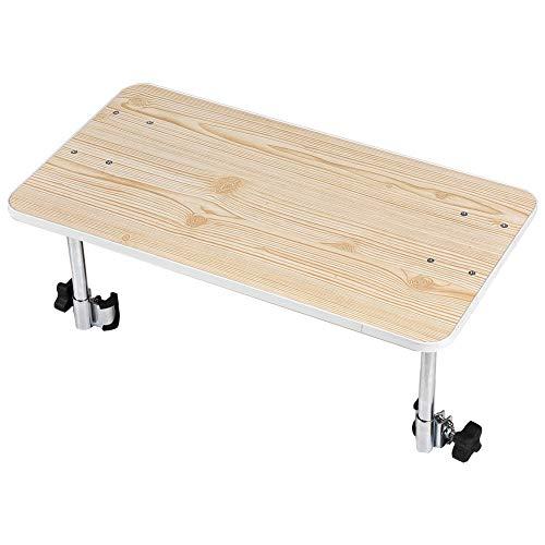 Bandeja para silla de ruedas, mesa de comedor con bandeja de madera para silla de ruedas desmontable para sillas de ruedas eléctricas o manuales, se adapta a andadores, ruedas para personas mayores y